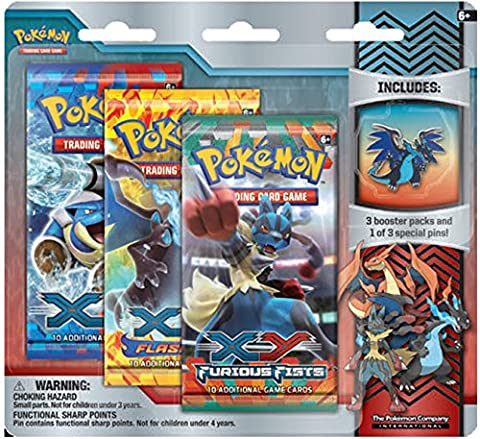 Pokemon XY Flashfire Trading Card Game Booster Pack Pin Set-