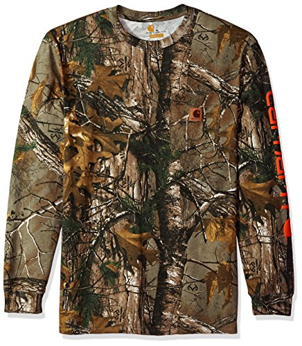 Carhartt Workwear Graphic Camo Long Sleeve T-Shirt for Men - Realtree Xtra (XL, Camo)