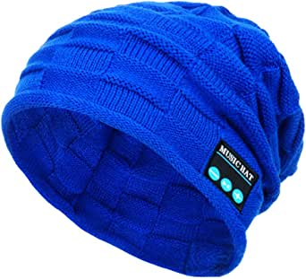 Beanie mit Bommel blau Mütze Trendfarbe Neu lässig warm