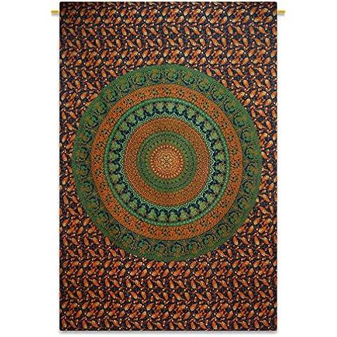 Mandala Bohemian Tapestry Full Size verde arte
