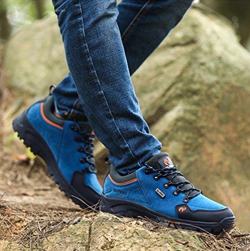 1547f8dc41d14 ... Minetom Trekking Chaussures Homme Femme, Chaussures De Randonnée  Imperméables Escalade Chaussures Unisexe Glissement Résistant Sneakers