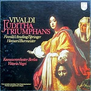 Vivaldi: JUDITHA TRIUMPHANS (Erste Gesamtaufnahme) [Vinyl Schallplatte] [3 LP Box-Set]