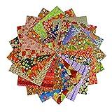 Yuzen Lot de 60 feuilles de papier washi japonais Motif chiyogami 15 x 15 cm