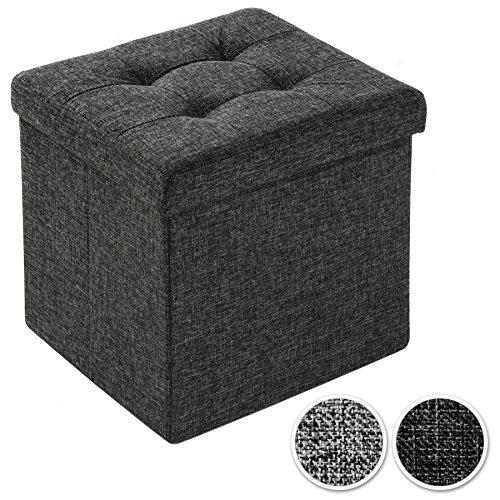 TecTake Faltbarer Sitzhocker Aufbewahrungsbox Sitzwürfel Hocker Würfel Möbel 38x38x38cm