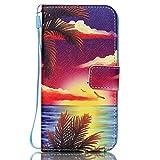 Portefeuille Etui pour Samsung Galaxy S6 Edge, Coffeetreehouse PU Lanyard Cuir Flip Housse Étui Cover Case Wallet Portefeuille Supporter avec Carte de Crédit Fentes pour Samsung Galaxy S6 Edge - YB-F6