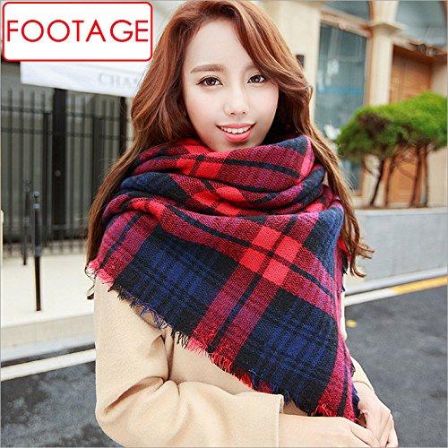 Les carrés colorés Flash plus épais foulard écharpe châle à double usage 135-175CM