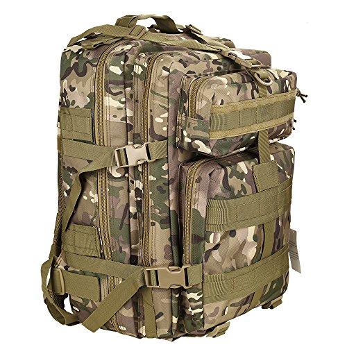 Imagen de hukoer  táctica impermeable de moda para excursionismo montañismo senderismo y viaje al aire libre macuto militar y deportiva de alta calidad bolsa de viaje 45l cp