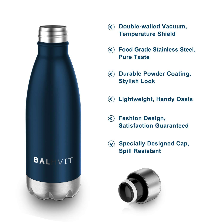 BPA frei Halten Kalt//Hei/ß 500//750 ml f/ür Kinder Auto und B/üro Erwachsene Yoga Reisen Camping Trinkflasche Thermosflasche Wasserflasche Sportflasche Thermobecher aus Doppelwandigem Edelstahl