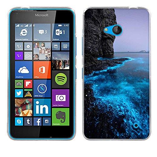 Nokia Microsoft Lumia 640 Hülle Case, Fubaoda [Fluoreszierende Küste] Ultra Dünn Handyhülle Cover Soft Premium-TPU Durchsichtige Schutzhülle Backcover Slimcase für Nokia Microsoft Lumia 640 -