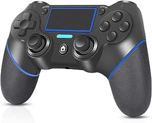 Controller per PS4, RegeMoudal Controller Wireless per PS4/PS4 Slim/PS4 Pro/PC Doppio Vibrazione di Gioco Controller TouchPad e Audio Jack Bluetooth Gamepad Joystick Controller per Playstation 4
