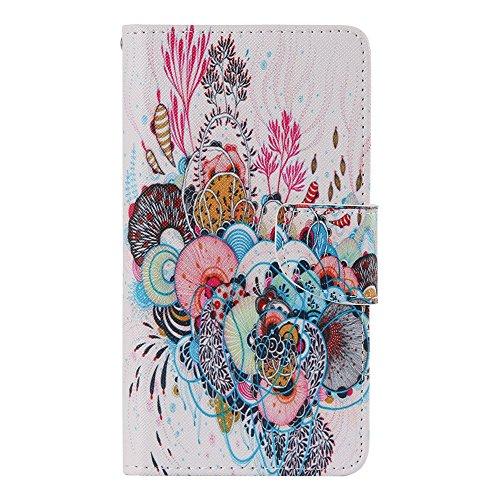 Nancen Samsung Galaxy A7 2015 / SM-A700F (5,5 Zoll) Hülle, Painted Muster Flip Case PU Leder Handytasche Cartoon Schreiben Landschaft Bunt Blumen Tier Praktisches Design Wallet Etui Lederhülle Handy Schutzhülle Bookstyle Cover