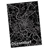 Mr. & Mrs. Panda Postkarte Stadt Düsseldorf Stadt Black - Stadt Dorf Karte Landkarte Map Stadtplan Postkarte, Postkarten, Einladungskarte, Geschenkkarte, Brief, Spruch des Tages, Kärtchen, Geschenk, Karte, Papier, Einladung, Fan, Fanartikel, Souvenir, Andenken, Fanclub, Stadt, Mitbringsel