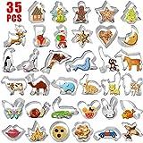 Gyvazla Set di 35 Formine per Biscotti, Acciaio Inox Animali Stampi Biscotti, per Bambini DIY Decorazioni Dolci Biscotti Dolci Decorazioni Dolci Pasta Zucchero