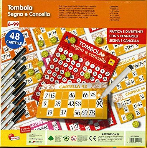 comprare on line Lisciani Giochi 56996 - Ludoteca Tombola Segna E Cancella 48 Cart prezzo