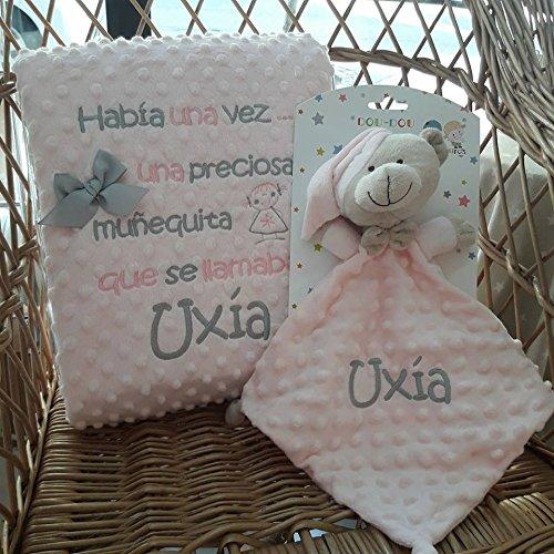 Manta Bebé Infantil Personalizada + Doudou Gamberritos con Nombre Bor