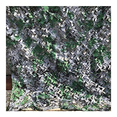 ATR Beschattungsnetz Sommer Schwimmbad Garten Sonnenschutz Schatten Oxford Tuch Camouflage Network, 2 Farben, Anpassbare Größe (Farbe: B, Größe: 6X8M)