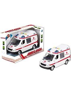 NUOVO Teamsterz EMERGENZA POLIZIA//Ambulanza Auto risposta Light /& Sound Toys