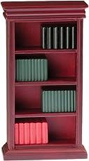 Classics by Handley Dollhouse Bookshelf with Books, Mahagony