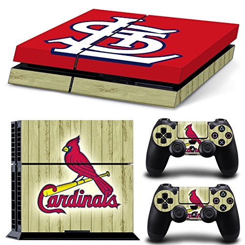 GameCheers PS4 Konsole and DualShock 4 Controller Skin Set - Baseball MLB - PlayStation 4 Vinyl Louis Cardinals Video