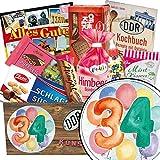 34. Geburtstag Geschenk - Süße DDR Waren mit Geschenkbox | Geschenk Set