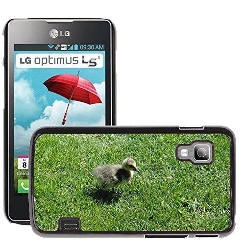 Nur Handy HOT Style Handy PC Hard Case Cover//m00139083Gosling Ente Küken Vogel Baby Young//LG Optimus L5II Dual E455/E460