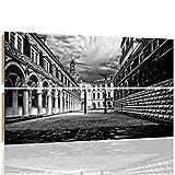 Feeby DRESDEN Mehrteilige Wandbild Deco Panel 2 Telige Bild, Größe: 150x100 cm, DEUTSCHLAND SCHLOSS ARCHITEKTUR SCHWARZ UND WEIß