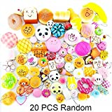 Lelly Q 20pcs Squishies, Slow Rising Kawaii Squishy Package Simulation Lovely Soft Food squishies,Phone Charm Keychain Straps Toy Gift(20pcs)