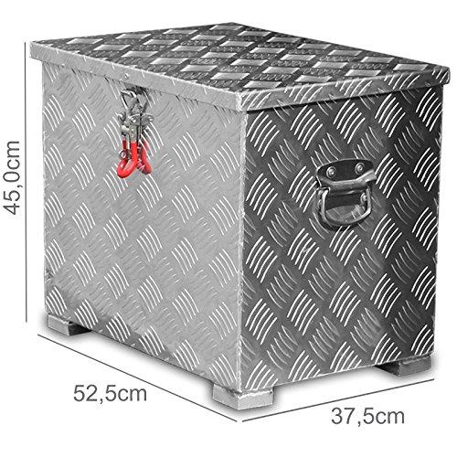 Preisvergleich Produktbild 80l Alukiste Werkzeugkiste Alubox Deichselbox Staubox Gurtkiste Box Alu Kiste TB1