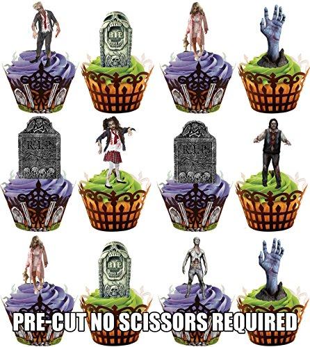 oween Zombie Grabsteine Mix – Essbare Cupcake Topper / Kuchendekorationen (12 Stück) (Halloween-lebensmittel Streich Ideen)
