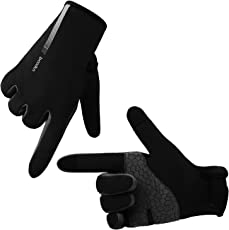 Molee Fahrradhandschuhe Touchscreen Handschuhe Laufhandschuhe Winter Fleece Handschuhe Sporthandschuhe Ajustable Größe Für Herren und Damen