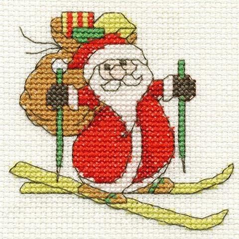 Kit per punto croce, motivo: piccolo Babbo Natale