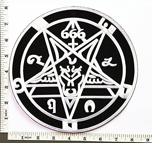 Big Jumbo Large Big Huge Jumbo 666 Demonic Pagan Goat Pentagram Music Band Heavy Metal Punk Rock patch Jacket T-shirt Sew Iron on Patch Badge Embroidery by DreamHigh_skyland big jumbo patch
