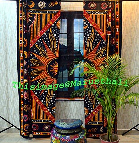 Baumwolle Mandala Vorhänge indischen Celtic Wand-2Vorhängen Volants-Schal Hippie (Schal Volant)