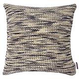 TOM TAILOR 564054 Strickkissenhülle T-Motley, 50 x 50 cm, Mischgewebe, grau/beige