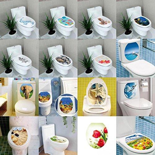 Gazechimp WC-Aufkleber Deckel für Toilettendeckel Badezimmer Toiletten Sitz Wandaufkleber DIY Dekor, 32x39cm - Steine