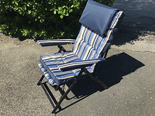 Sedie A Sdraio Imbottite : Eurolandia b sedia a sdraio confort plus blu reclinabile in