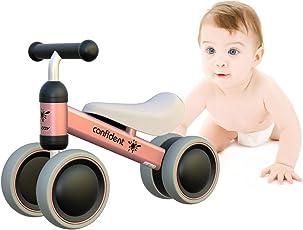 Baby Laufrad Kinder Spielzeug ab 1 Jahr Tüv Geprüft Kleinkind Dreiräder Erst Fahrrad für 10-24 Monate Pink