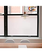 TOTAL HOME®Privacy Window Films, Opaque Frosted Glass Tint Static Cling Treatment Protects Home Security Without Blocking Daylight - Heat Control, UV Prevention, (Matte White, 24x78.7 Inches)
