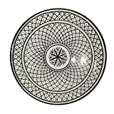 Marokkanischer Teller Schwarz Weiß 26cm | bunte marokkanische Keramik Teller bunt aus Marokko | Große Keramikschalen flach Geschirr aus dem Orient handbemalt