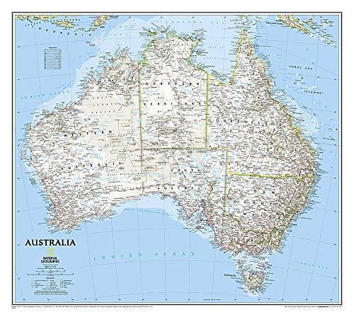 Australia politisch, laminiert - Karte Von Australien