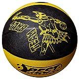 Best Sport Team Ballon de Basket Mixte Enfant, Noir/Jaune