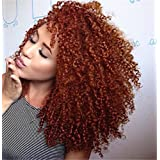 ATOZWIG Full Blonde Medium Long Synthetic Lace Front Wig Kinky Curly Hair for Sexy Women Heat Resistant Synthetic Kinky Curly Wigs