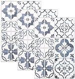 infactory Fliesen-Dekos: Selbstklebende 3D-Bordüre-Fliesenaufkleber, 29,5 x 19,5 cm, 3er-Set (Fliesenfolien selbstklebend)