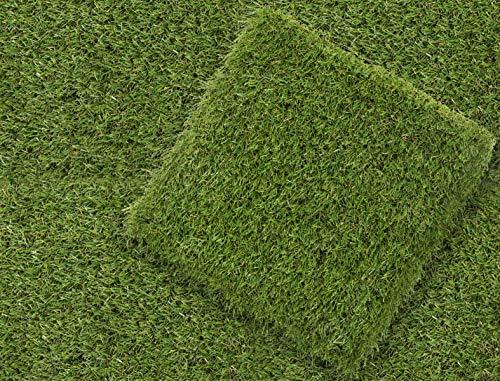 Klicken WPC Fliese Verbundfliesen Terrasse Heimwerker Einfacher Einbau im Aussenbereich, Balkon, Dachterrasse, Whirlpool und Pool-Bereich (1 sqm, Gras)