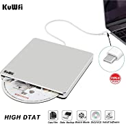 USB-C Super-drive USB C External DVD CD Drive DVD/CD Burner Drive CD-RW DVD+/-RW Rewriter/Writer/Player with High Speed Data