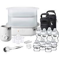Tommee Tippee Steriliser 1151 , Warmer and 8x Bottles Complete Feeding Set, White