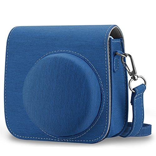 Fintie Tasche für Fujifilm Instax Mini 8/Mini 9 Sofortbildkamera - Premium Stoff Schutzhülle Reise Kameratasche Hülle Abdeckung mit Abnehmbaren Riemen, Stoff Blau