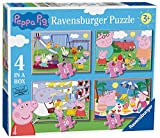 Ravensburger Peppa Pig 4 puzzle in una scatola (12, 16, 20, 24PC)