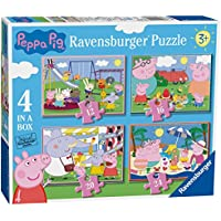 Ravensburger Peppa Pig 4 in a Box (12, 16, 20, 24pc) Jigsaw Puzzles