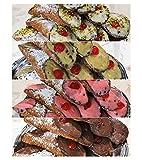 20 Cannoli Siciliani con pura ricotta di pecora ai gusti assortiti -...